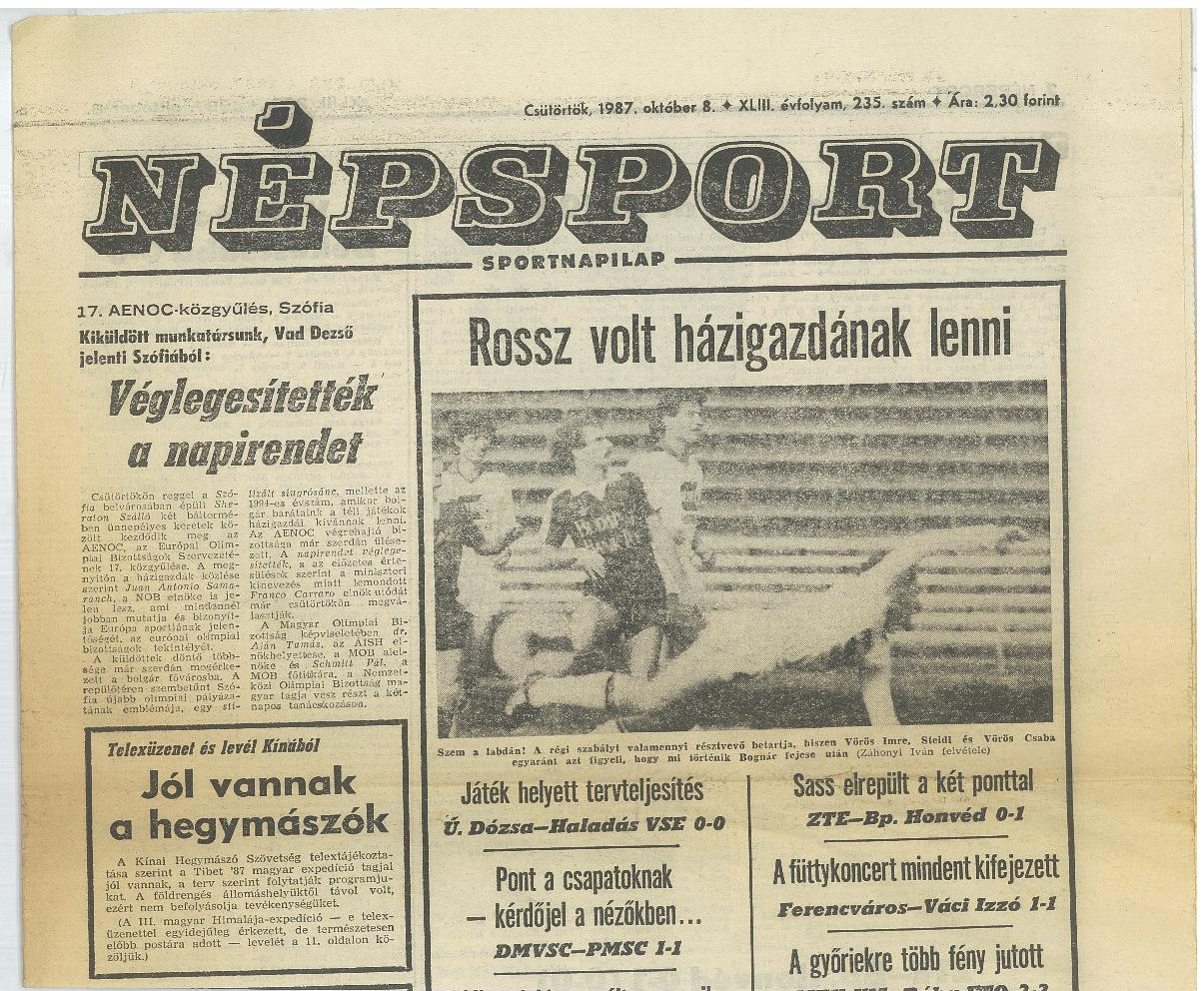 Népsport 1987. október 8.