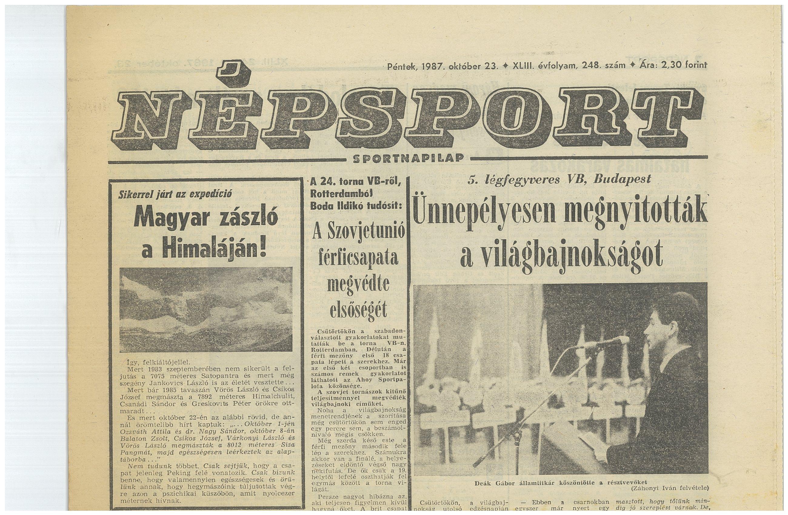 Népsport 1987.október 23.