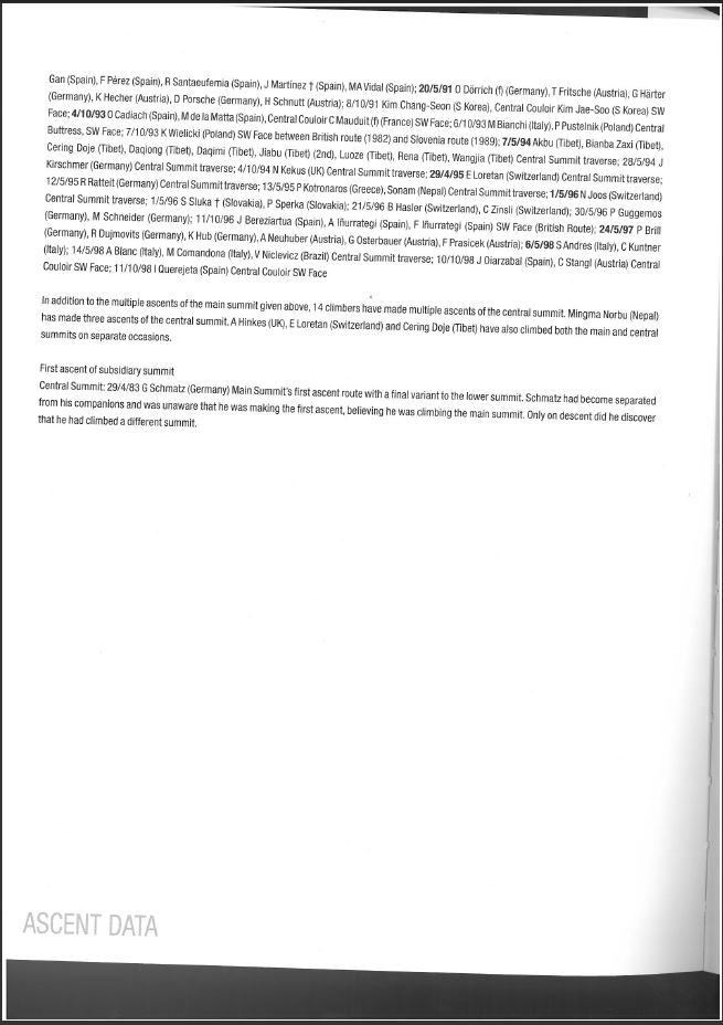 Shisha Pangma Megmászói, a könyv 226.oldala