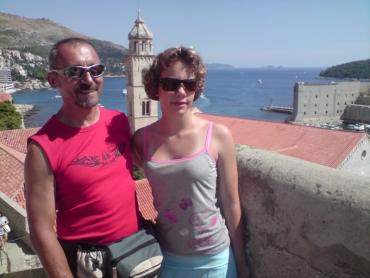 Dubrovnik, a várfalon