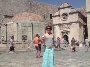 Dubrovnik főterén
