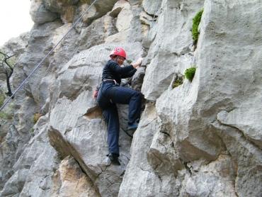 Paklenyica (Horvátország) 2011 ősz 8 Orsi mászik!