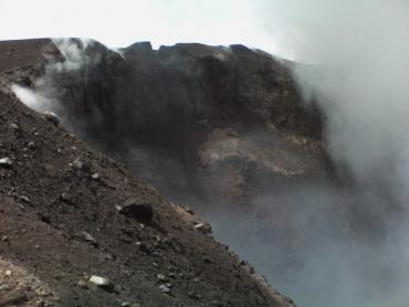 Az Etna kráteréből most látni.